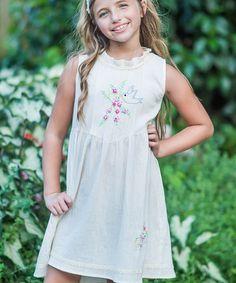 Loving this Ivory Micaela Dress - Infant, Toddler & Girls on #zulily! #zulilyfinds