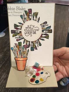Crafting Forever Stamp Set. Debbie Blake Independent Stampin' Up! Demonstrator -Australia. #nutshellcreations #onstage2017 #stampingupaustralia #craftingforeverhouseworkwhenever