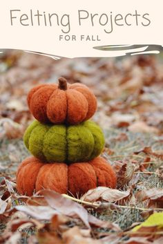 Insanely Easy and Clever Felting Projects for Fall!