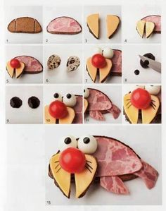 DIY walrus snacks for kids | looks a little time consuming but super adorable! #kids #food #snacks #cute