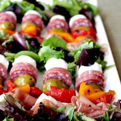 Antipsto Salad Kabobs