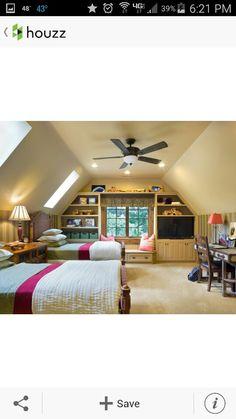 Room idea with slanted wall