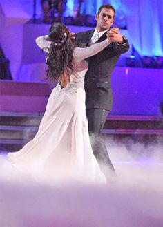Dancing With The Stars Season 14 Spring 2012 William Levy and Cheryl Burke Viennese Waltz Cheryl Burke, Dancing With The Stars, Tv Shows, Flower Girl Dresses, Dance, Wedding Dresses, Movies, Image, Demons