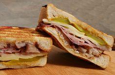 Cuban Sandwich ~ Pork, Ham, Swiss Cheese, Pickles, and Mustard