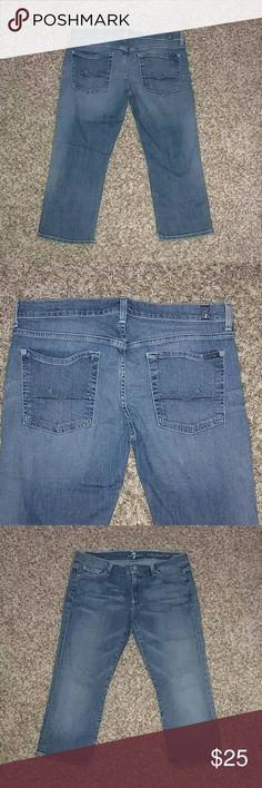 7 for all Mankind Crop Josefina Skinny Boyfriend 7 for all Mankind Crop Denim Josefina Skinny Boyfriend jeans. Size 29 7 for all Mankind Jeans Ankle & Cropped
