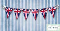 UK British Flag Union Jack Party Printable by HeartsandCraftsy, royal baby prince!