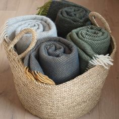 Herringbone Wool Throws