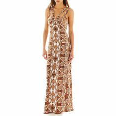 53eed4773610 Bisou Bisou® Sleeveless Maxi Dress found at  JCPenney ♥ ALL THERE DRESSES ( MAXI S