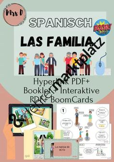 La familia - interaktive PDF/Hyperlink PDF + Boom Cards Bbq Party, Stiefvater, Family Theme, Cards, My Family, Brother Sister, Mother In Law, Agriculture Farming, Physical Science