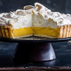 Perfect lemon meringue pie: A classic, impressive lemon meringue pie with crisp pastry, tart curd and fluffy meringue that's easy to make. What more could you want?