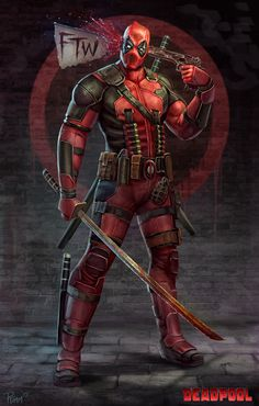 #Deadpool #Fan #Art. (Deadpool FTW) By: PTimm. (THE * 5 * STÅR * ÅWARD * OF: * AW YEAH, IT'S MAJOR ÅWESOMENESS!!!™) [THANK U 4 PINNING!!!<·><]<©>ÅÅÅ+(OB4E)