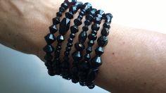 Coil Bracelet Spiral bracelet Boho by LesBijouxLibellule Black Jewelry, Black Necklace, Boho Jewelry, Wedding Jewelry, Unique Jewelry, Jewelery, Gifts For Women, Gifts For Her, Cardboard Jewelry Boxes