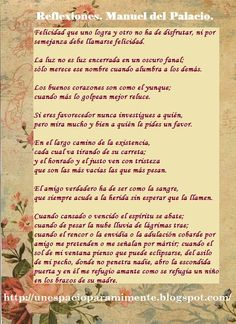 Reflexiones. Manuel del Palacio, español.
