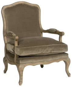 beige velvet chair