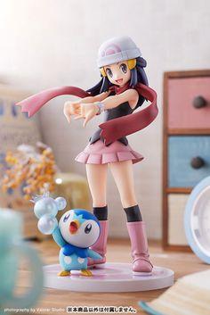 Pokemon trainer Dawn (Hikari) and her favorite companion Piplup (Pochama) join the ARTFX J figure team from Kotobukiya! Pokemon Waifu, Pokemon Toy, Pokemon Fan Art, Girls Anime, Figure Poses, Anime Figurines, Figure Photography, Anime Merchandise, Anime Dolls