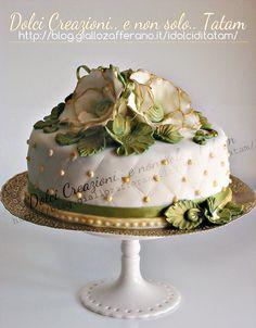 Torta decorata Vintage | pasta di zucchero senza glucosio