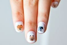 These little transfers / decals are made from pictures of real pomeranian doggies. There are 42 water transfers that blend in perfectly with clear, white or pale nail polish. #pom #pompoms #cutepoms #dogs #cutedogs #naildecals #nails #obscuraoutfitters #cute #nailideas