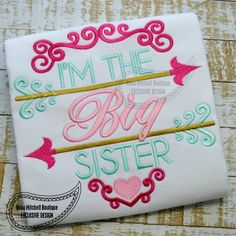 Big Sister arrow- BMB EXCLUSIVE embroidery design - Beau Mitchell Boutique