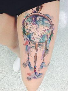 90 Inspirational Dream Catcher Tattoo Designs Done Right Love Tattoos, Sexy Tattoos, Beautiful Tattoos, Girl Tattoos, Tatoos, Feminine Tattoos, Native Tattoos, Indian Tattoos, Dream Catcher Tattoo Design