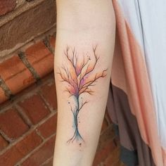 25+ Awesome Watercolor Tree Tattoo Ideas