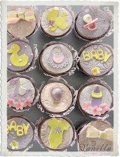 Hoşgeldin Bebek! Baby Shower Cupcake'leri...