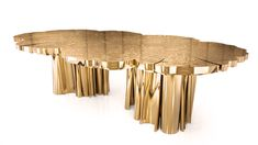 #NEW #Dining Table a #gold #table with a #contemporary touch.  @Boca do Lobo