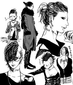 Uta with some hairstyles - Tokyo Ghoul