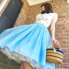 Blueberry Shortcake - The Dressed Aesthetic 50 Fashion, Vintage Fashion, Blueberry Shortcake, Aesthetic Women, Chic Summer Style, Circle Dress, Rockabilly, Vintage Inspired Outfits, Types Of Fashion Styles