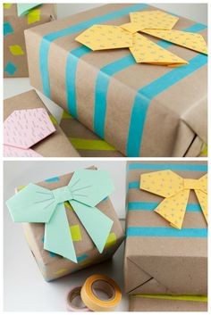 Best bow tutorials - learn to make stylish bows Craftionary Diy Bow, Diy Ribbon, Ribbon Crafts, Origami Paper Folding, Origami Easy, Bow Tutorial, Origami Tutorial, Origami Models, Best Bow