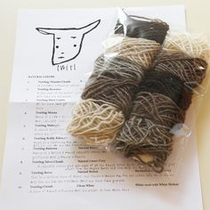 fibershed - twirl natural yarn : sample packet