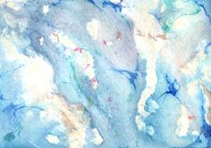 """Original Painting  5"""" x 7"""" on #Etsy - Abstract in Blue, Purple, Tan and Ivory at AidforAbby, $7.99"""