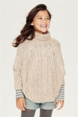 Cable Poncho (3-16yrs) (697400G40) | £22 - £29