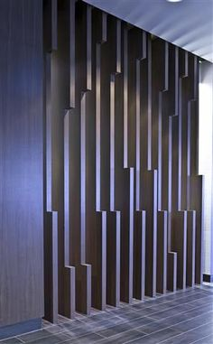 Design an der Wand, Muster an der Wand, Design an der Wand - inspiracje - Tour Partition Design, Partition Ideas, Partition Walls, Divider Design, Feature Wall Design, Deco Restaurant, Acoustic Panels, Wall Cladding, Office Walls