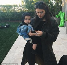 'Me as a mom': Kendall Jenner Instagrammed a playful snap of herself with her nephew Reign on Saturday