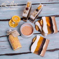 """Купить Мыло """"Мандариновый чизкейк"""" ручной работы - желтый, мыло ручной работы, мыло в подарок"""
