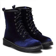 Burgundy Velvet Lace-up Design Short Boots from mobile - US$51.95 -YOINS