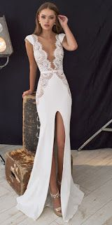 Fashion – Great Looks, What To Wear: Dress, cut, open back, tight, sexy design, wedding dress series