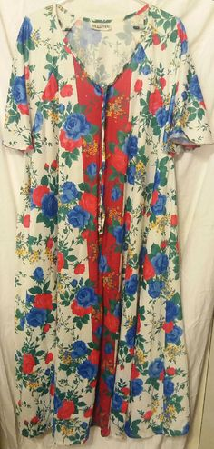 NEW Vintage Plus Size up to Xl 1X 2x 3x 4x 5x Multicolored Floral House Dress Casual Maxi Lounger Moo Moo Duster Easy Sort Flowy Nightgown Lounge Old Stock With Tags Art to Wear Long One Size Cover Cool Colorful Short Sleeves Zipper Front  NEW Vintage Plus Size up to Xl 1X 2x 3x 4x 5x Multicolored Floral House Dre...   https://nemb.ly/p/Ek1tqO0Tb Happily published via Nembol
