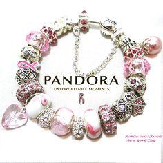 Cinta rosa, pulsera del conocimiento. Elegir la pulsera de Pandora o platinados Euro estilo pulsera Ambos tipo de pulseras se han mejorado con la exclusiva mezcla de granos no marca y encantos. Este es un tema de conciencia de cinta rosa pulsera. Todos los granos y encantos como se muestra. Pulseras todo llega bellamente envuelto en tul y en caja. En la foto de la pulsera es el cierre del barril de Pandora en el tamaño promedio de 19cm (7,5 pulgadas). TAMAÑO: Pulsera encajará perfectamente…