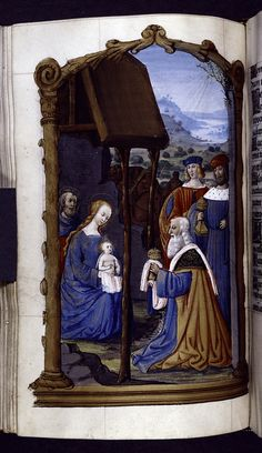 Full-page miniature of the Adoration of the Magi (circa 1500), Book of Hours, Stephen A. Schwarzman Building / Spencer Collection