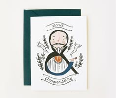 Lord Ampersand Card 1pc. $4.00, via Etsy.