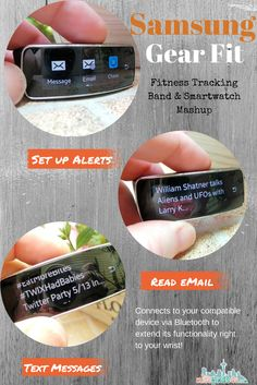 Samsung Gear Fit - Smartwatch Features in a Fitness Tracking Band - #CommunityBias #shop