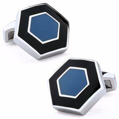HEXAGON - exkluzívne manžetové gombíky - šperkárska technika: smaltovanie Cufflinks, Accessories, Luxury, Wedding Cufflinks
