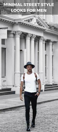 Minimal street style looks for men