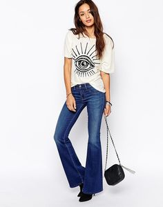 Diesel Livier Flared Jeans, $211.54