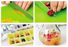 Flavored Ice cubes    Directions:    Prepare any of the following SereniGy beverages as usual:    Green Tea, Rooibos, Spiced Black Tea or Black Coffee.  Cool & pour into ice cube trays.  Use in any drinks to add an instant flavor boost.    Cover  tray  with Saran wrap  and  add a toothpick  to each one  to have mini popsicles .    Add pieces of fruit, edible flowers, mint, etc before  freezing  to create  fun and festive ice cubes.