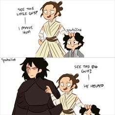 Awww Kylo and their child looks so fluffy and cute X3
