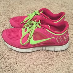 Nike free runs Nike free runs. Worn several times. Have a few scuff marks in the front shown in pics, otherwise in great condition! Nike Shoes Sneakers