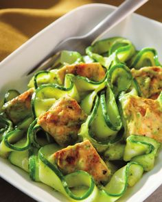 Bob Harper's Recipe for Zucchini Noodles in Avocado Cream Sauce