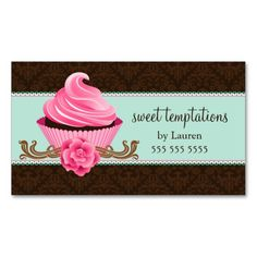 Elegant damask cupcake bakery business card bakery business cards elegant damask cupcake bakery business card bakery business cards bakery business and cupcake bakery reheart Choice Image